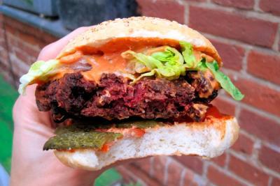 Homemade organic vegan Buddhi burger