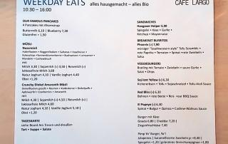 Cafe Largo Menu (weekdays)