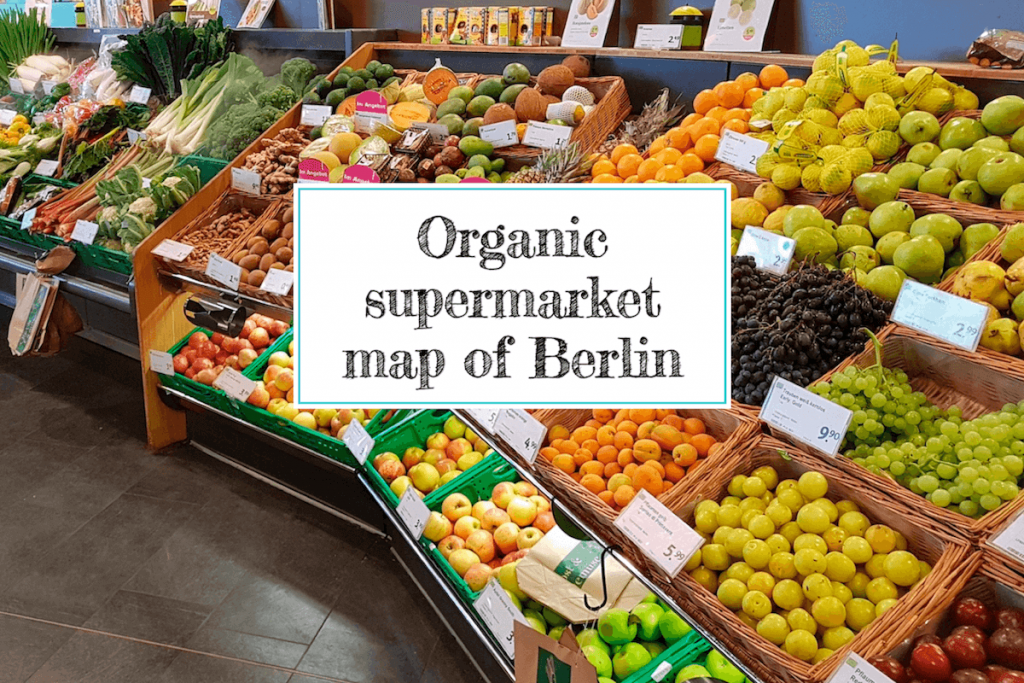 Map of organic supermarkets in Berlin